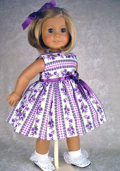 American Girl American Girl dress American Girl by ADollsFancy Etsy For inspiration.  Love the stripes.