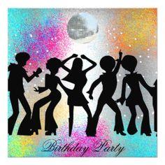 Dance Disco Birthday Party psychodelic Card