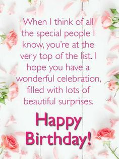 Special Happy Birthday Wishes, Spiritual Birthday Wishes, Happy Birthday Flowers Wishes, Happy Birthday Wishes For Her, Birthday Greetings For Women, Happy Birthday Wishes Cards, Happy Birthday Beautiful, Birthday Blessings, Birthday Cards For Her