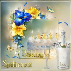 Animated Gif by Lady Moon Name Day, Happy Birthday, Table Decorations, Pretty, Moon, Studio, Lady, Celebrities, Birthday