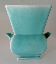 Vintage 1930s WINFIELD Art Pottery California Blue Vase Ceramic. $88.00, via Etsy.