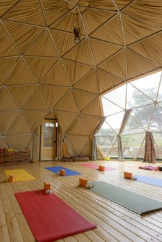 EcoCamp's Yoga Dome #yoga                                                                                                                                                                                 More