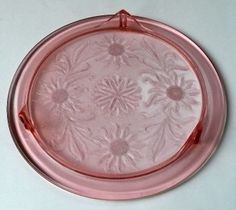 Vintage Pink Jeanette sunflower low footed cake plate.  I have one like this.