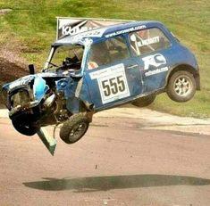 Lil boy blue go to da junk yard now Mini Cooper S, Mini Cooper Custom, Mini Cooper Classic, Cooper Car, Classic Mini, Classic Cars British, Mini Clubman, Car Crash, Rally Car