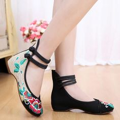 Women's Embroidered Cloth Shoes
