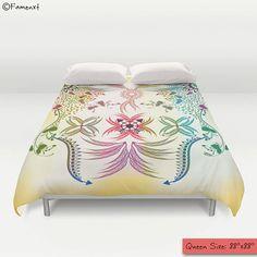 Bohemian Duvet Cover Decorative Boho Bedding Home decor by Famenxt