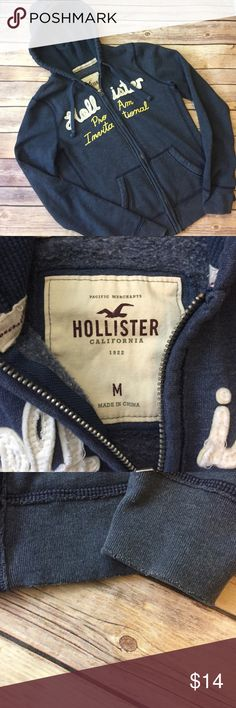 🌟HOLLISTER✨ Pre❤️'d distressed hoodie. It's nice warm and cozy. It runs smaller than M. Hollister Tops
