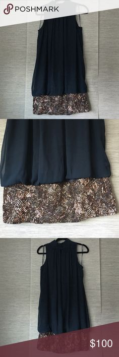 BRAND NEW BADGLEY MISHKA DRESS SIZE LARGE Silk with beaded detail. Size large. GORGEOUS. Brand new no flaws. Dresses