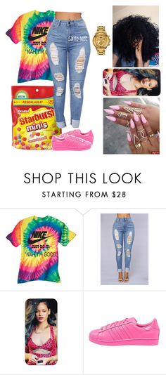 """Come Thru "" by santo-wife ❤ liked on Polyvore featuring adidas Originals and Versus"