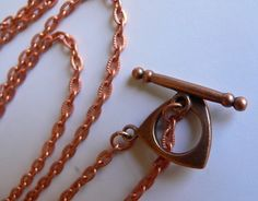Copper Chain with Toggle Clasp by ArtBoxSupplies on Etsy, $4.25