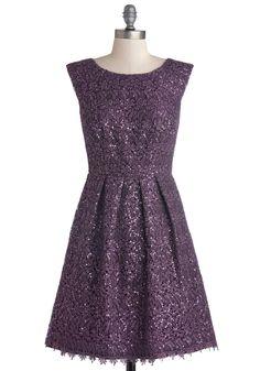 Plum One Like You Dress | Mod Retro Vintage Dresses | ModCloth.com