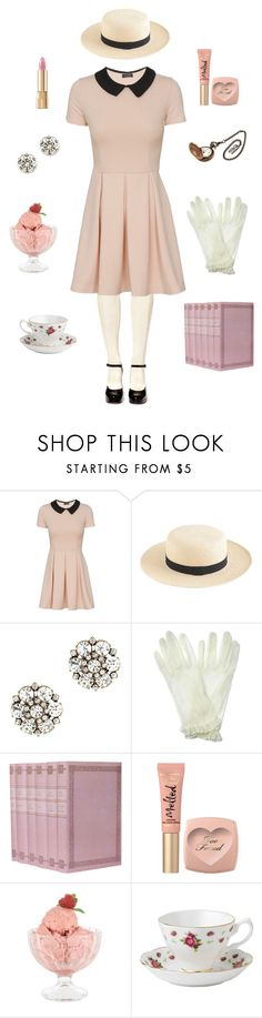 """""""Afternoon Picnic"""" by conquistadorofsorts ❤ liked on Polyvore featuring J.Crew, Monsoon, Too Faced Cosmetics, Bormioli Rocco, Royal Albert, Dolce&Gabbana and vintage"""
