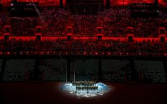 Sochi 2014 Winter Olympics opening ceremony - The Ministry of Internal Affairs choir sings Get Lucky during the pre-show
