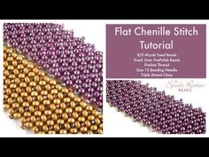 Flat Chenille Stitch Tutorial - YouTube