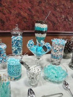 Candy Bar for e party think these colours would look good for a room