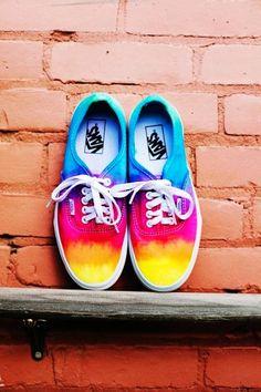 Tie dye custom Vans shoes #tie #dye #shoes www.loveitsomuch.com