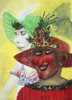 Otto Dix (German 1891–1969) [German Expressionism, Neue Sachlichkeit] Prostitutes.