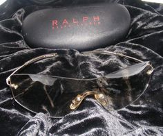 RALPH LAUREN Fashion Shades, Mirrorized Semi-Wrap around Sunglasses & Black Case #RalphLauren #SemiwarparoundMirrorized
