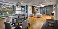 accent lighting at collaboration areas.  Wakely1011204 700x358 Inside Adobes Reinvented Global Headquarters