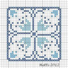 X St. Delft Blue Block...would make beautiful quilt blocks.