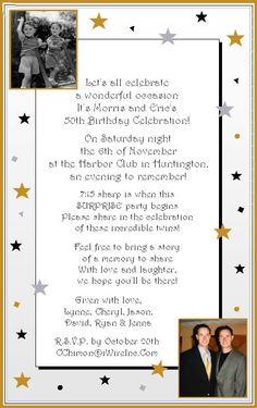 Fifty and fabulous birthday invitations 50th birthday party pin sample 50th birthday party invitation wording on pinterest stopboris Choice Image