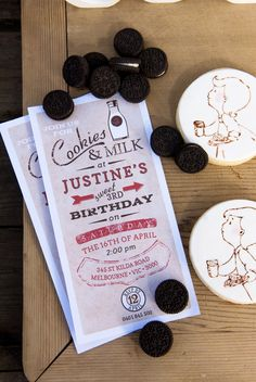 """Vintage Milk & Cookies - love this idea for """"coming soon""""'s 1st birthday (lol hasn't even been born & I'm already thinking of 1st bday party I'm crazy)"""