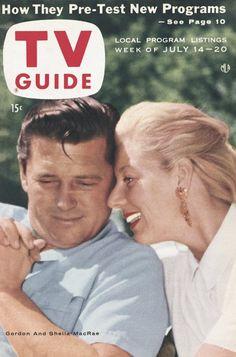 TV Guide: July 14, 1956 - Gordon MacRae and Sheila MacRae