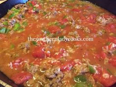 My family loves this unstuffed green pepper skillet meal! I added an Italian twist by using Italian Sausage and Italian diced tomatoes. Unstuffed Pepper Casserole, Green Pepper Casserole, Unstuffed Peppers, One Pot Meals, Main Meals, Turkey Recipes, Dinner Recipes, Dinner Ideas, Skillet Dinners