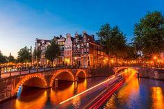 Fotobehang: Amsterdamse Grachten