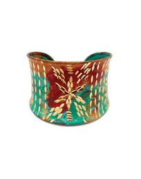 turquois painted cuff - JewelMint