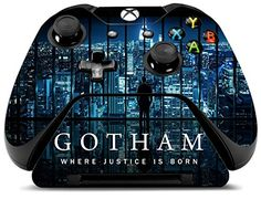 Controller Gear Gotham City Lights  Xbox One Skin Set for Controller and Controller Stand  MultiColor >>> To view further for this item, visit the image link.(It is Amazon affiliate link) #lifestylestore