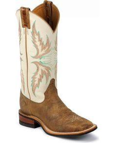 Give your legs comparative warmth and stylish look with cowgirl boots justin bent rail ivory puma cowgirl boots - square toe, tan, hi-res CJKEDDE Cute Cowgirl Boots, Womens Cowgirl Boots, Cute Boots, Fly Boots, Cowboy Hats, Cow Girl, Puma, Western Shoes, Western Wear