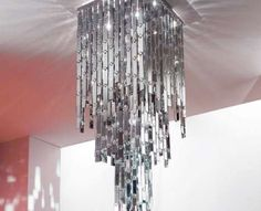 Shiny disco glitter chandelier