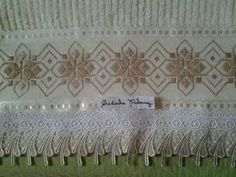 Bargello, Tea Towels, Diy And Crafts, Sewing Projects, Curtains, Embroidery, Crochet, Home Decor, Cross Stitch Embroidery