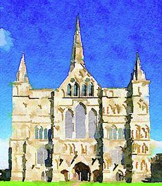 Salisbury Cathedral Painting - Salisbury Cathedral by Anita Van Den Broek Salisbury Cathedral, Notre Dame, Fine Art America, Van, Wall Art, Photography, Travel, Painting, Photograph