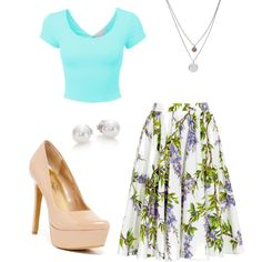 Girly by birdiesmind on Polyvore featuring polyvore fashion style Dolce&Gabbana Jessica Simpson Mikimoto Kenneth Cole