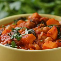 Chickpea Sweet Potato Stew Recipe by Tasty