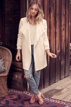 Cupcakes and Cashmere Jacket, Beau Souci Tank (similar here), Agolde Jeans, Urban Outfitter's Shoes (similar here)