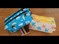 Estojo escolar DUPLO ,FÁCIL DE FAZER 😁 - YouTube Backpack Pattern, Pencil Bags, Fashion Sewing, Sewing Tutorials, Coin Purse, Patches, Wallet, Crochet, Crafts