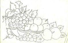 frutas pintura em tecido - Pesquisa Google