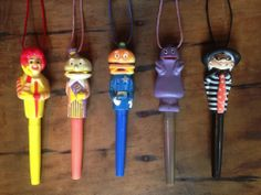 McDonald's Toys Early 80s Vintage Pen (With Lanyard) Set - Have the whole set!