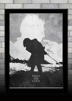 Jon Snow and The #Night's King Game of #Thrones #Print - 3 FOR 2,  View more on the LINK: http://www.zeppy.io/product/gb/3/265238690/