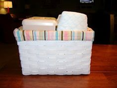 Great tutorial for making lined baskets.