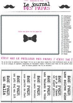 [Imprimable] Le journal des papas à offrir #fêtedespères
