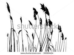 tall grass silhouette - Google Search