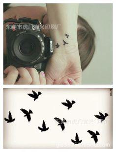 Estilo de verano impermeable tatuajes temporales para mujeres de la señora Colorida animal pájaro aérea HC1073 diseño etiqueta engomada del tatuaje del Envío Libre