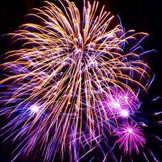 Colourful fireworks at Newick Bonfire Night.