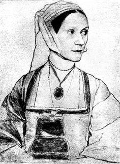 Cecilia Heron, daughter of Saint Thomas More, wearing a flat hood.