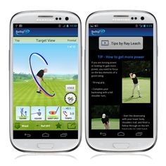 SwingTIP Instant, Visual and Personal Golf Swing Analysis Mobile App on a Samsung Galaxy III S