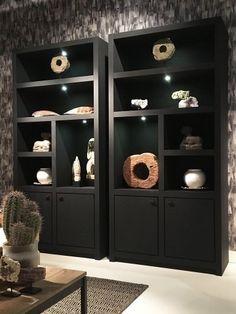 Flex boekenkast Keijser & Co - Kasten - Stoop Furniture - Lilly is Love Office Interior Design, Home Office Decor, Home Decor, Living Room Grey, Living Room Modern, Casa Cook, Creative Bookshelves, Living Room Storage, Trendy Home